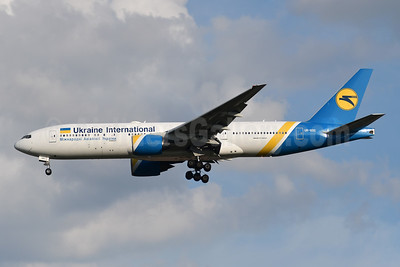 Ukraine International Airlines Boeing 777-28E ER UR-GOC (msn 28686) YYZ (TMK Photography). Image: 947291.