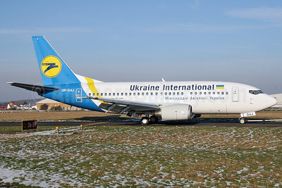 Ukraine International Airlines Boeing 737-5Y0 UR-GAJ (msn 25192) SEN (Keith Burton). Image: 903335.