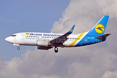 Ukraine International Airlines Boeing 737-5Y0 WL UR-GAW (msn 24898) BRU (Karl Cornil). Image: 910060.