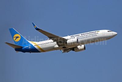 Ukraine International Airlines Boeing 737-8Q8 WL UR-PSO (msn 30628) LGW (Keith Burton). Image: 944738.