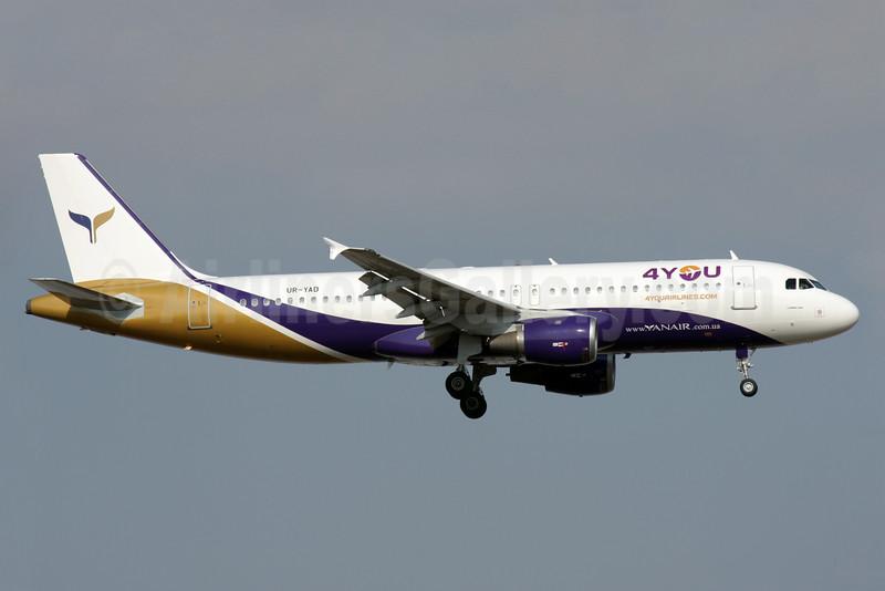 YanAir (4YOU Airlines) Airbus A320-211 UR-YAD (msn 726) AYT (Antony J. Best). Image: 923965.