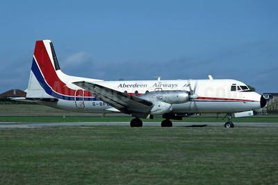 Aberdeen Airways (2nd) Hawker Siddeley HS.748-245 Series 2A G-BFLL (msn 1658) (Dan-Air London colors) JER (Richard Vandervord). Image: 949023.