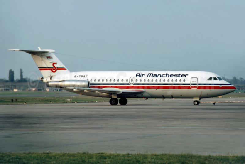 Air Manchester BAC 1-11 416EK G-SURE (msn 129) BHX (SM Fitzwilliams Collection). Image: 909797.