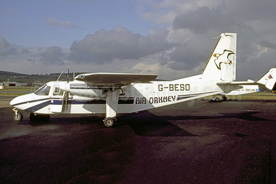 Air Orkney Britten-Norman BN-2A-26 Islander G-BESO (msn 2004) ABZ (Vernon Murphy - Bruce Drum Collection). Image: 952523.