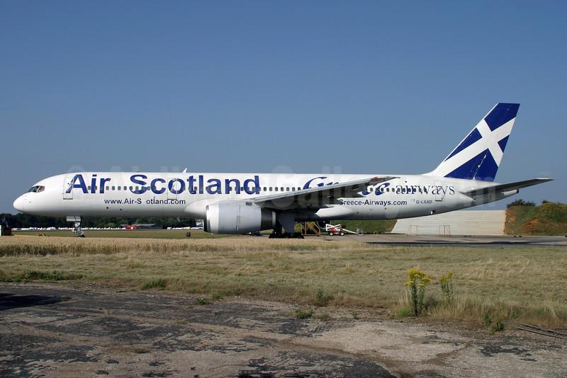 Air Scotland - Greece Airways Boeing 757-236 G-LSAD (SX-BLW) (msn 24397) QLA (Antony J. Best). Image: 901308.