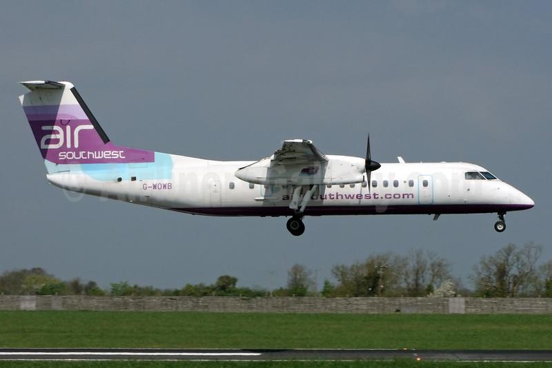 Air Southwest Bombardier DHC-8-311 G-WOWB (msn 334) DUB (Jay Selman). Image: 403028.