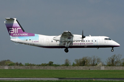 Air Southwest Bombardier DHC-8-311 Dash 8 G-WOWB (msn 334) DUB (Jay Selman). Image: 403028.