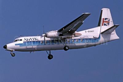 Air UK Fokker F.27 Mk. 200  G-BHMY (msn 10196) LHR (Jay Selman). Image: 400277.