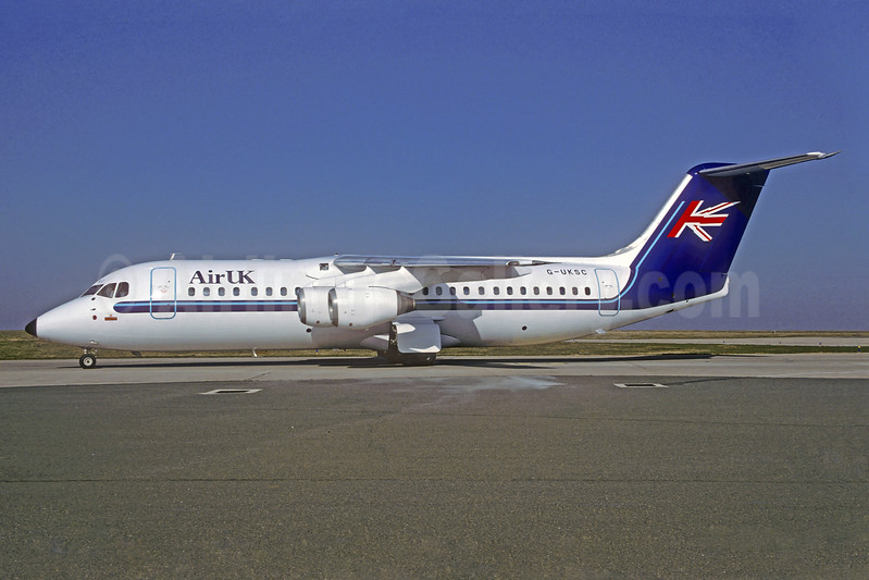 Air UK BAe 146-300 G-UKSC (msn E3125) CDG (Christian Volpati). Image: 940231.