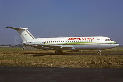 Airways Cymru BAC 1-11 304AX G-WLAD (msn 112) (Manx Airlines colors) (Jacques Guillem Collection). Image: 913583.