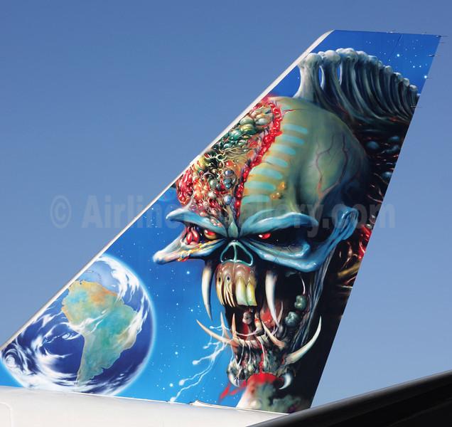 "Astraeus Airlines-Iron Maiden Boeing 757-2Q8 G-STRX (msn 25621) (The Final Frontier World Tour 2011) ""Ed Force One"" SEN (Antony J. Best). Image: 906014."