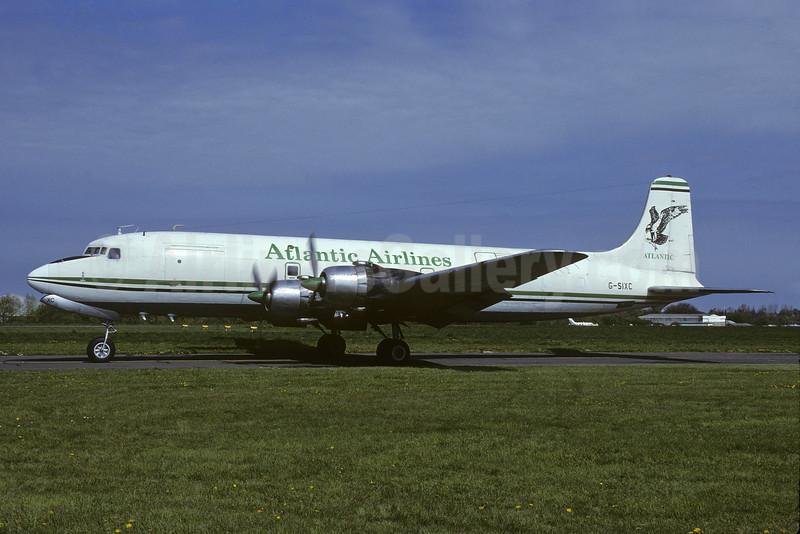 Atlantic Airlines (UK) Douglas DC-6A/B G-SIXC (msn 45550) (Richard Vandervord). Image: 911922.