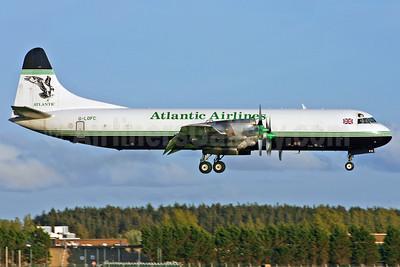 Atlantic Airlines (UK) Lockheed 188C (F) Electra G-LOFC (msn 1100) SNN (Malcolm Nason). Image: 912410.