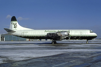Atlantic Airlines (UK) Lockheed 188A (F) Electra G-LOFD (msn 1143) (Bruce Drum Collection). Image: 950962.