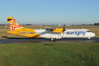 Aurigny Air Services -Guernsey's Airline ATR 72-212A (ATR 72-600) G-OGFC (msn 1595) GCI (Nick Dean). Image: 948767.