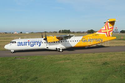 Aurigny Air Services -Guernsey's Airline ATR 72-212A (ATR 72-600) G-OGFC (msn 1595) GCI (Nick Dean). Image: 948766.