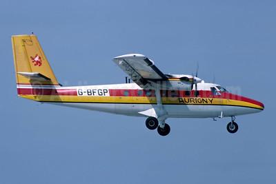 Aurigny Air Services de Havilland Canada DHC-6-300 Twin Otter G-BFGP (msn 571) JER (Richard Vandervord). Image: 948999.