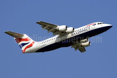 BA Connect (BA CityFlyer) BAe RJ100 (146-RJ100) G-BZAX (msn E3356) DUS (SPA). Image: 940894.