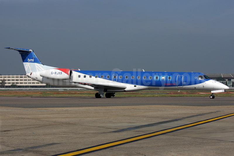 BMI Regional Embraer ERJ 145EP G-RJXB (msn 145142) LHR (Antony J. Best). Image: 902026.