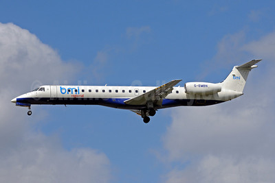 BMI Regional Embraer ERJ 145EU G-EMBN (msn 145201) (British Airways colors) LHR (Bruce Drum). Image: 101569.
