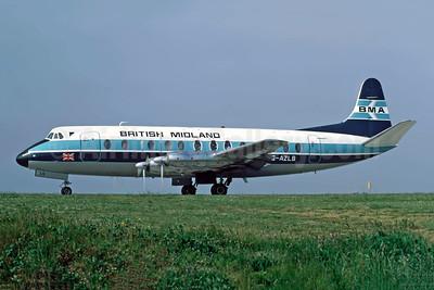 British Midland Airways-BMA Vickers Viscount 813 G-AZLS (msn 348) JER (Richard Vandervord). Image: 949175.