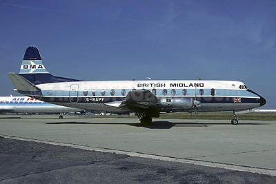 British Midland Airways-BMA Vickers Viscount 814 G-BAPF (msn 338) ORY (Christian Volpati). Image: 906728.
