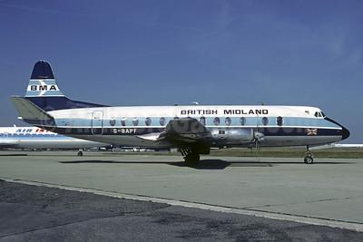 British Midland Airways-BMA Vickers Viscount 814 G-BAPF (msn 338) ORY (Christian Volpati). Image: 906728.