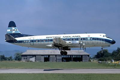 British Midland Airways-BMA Vickers Viscount 815 G-AVJB (msn 375) (Christian Volpati Collection). Image: 949177.