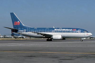 British Midland Airways-BM Boeing 737-33A G-OBMH (msn 24460) LHR (SPA). Image: 940402.