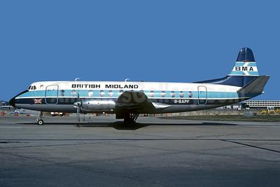 British Midland Airways-BMA Vickers Viscount 814 G-BAPF (msn 338) (Christian Volpati Collection). Image: 949213.