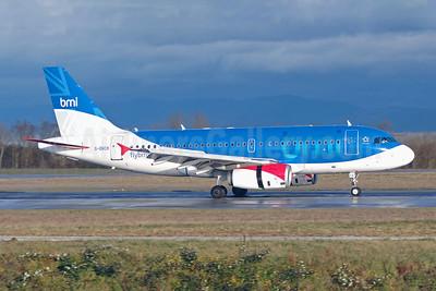 bmi (British Midland International) Airbus A319-131 G-DBCK (msn 3049) BSL (Paul Bannwarth).  Image: 907765.
