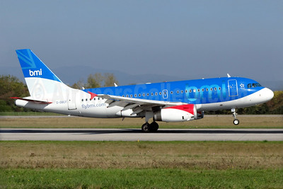 bmi (British Midland International) Airbus A319-131 G-DBCF (msn 2466) BSL (Paul Bannwarth). Image: 932674.