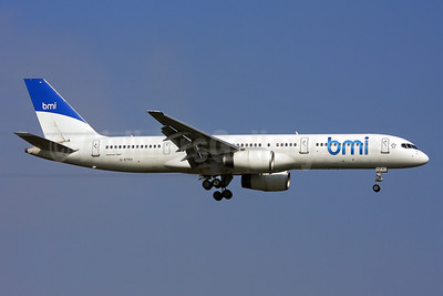 bmi (British Midland International) (Astraeus Airlines) Boeing 757-2Q8 G-STRY (msn 28161) LHR (Keith Burton). Image: 901227.
