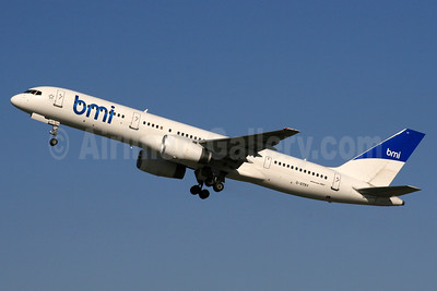 bmi (British Midland International) (Astraeus Airlines) Boeing 757-2Q8 G-STRY (msn 28161) LHR (SPA). Image: 924357.