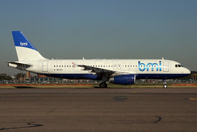 bmi (British Midland International) Airbus A320-232 G-MEDE (msn 1194) (British Airways - BMED hybrid livery) LHR (SPA). Image: 929319.