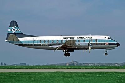 British Midland Airways-BMA Vickers Viscount 813 G-AZNC (msn 352) JER (Richard Vandervord). Image: 949176.
