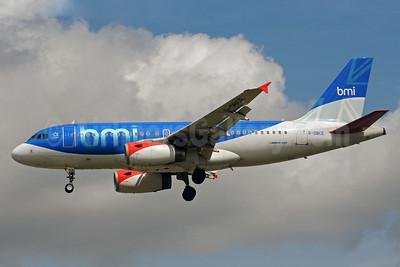 bmi (British Midland International) Airbus A319-131 G-DBCE (msn 2429) LHR (Bruce Drum). Image: 101529.