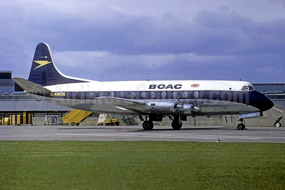 BOAC (British Overseas Airways Corporation) Vickers Viscount 701 G-AMOG (msn 007) LHR (Christian Volpati Collection). Image: 943927.