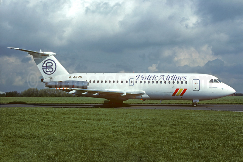 Baltic Airlines (UK) BAC 1-11 476FM G-AZUK (msn 241) STN (Christian Volpati Collection). Image: 931445.