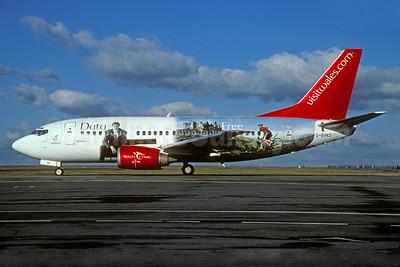 "Bmibaby's 2003 ""Duty Free - Wales"" logo jet"