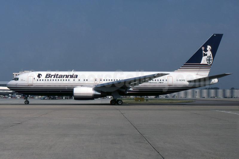 Britannia Airways Boeing 767-204 ER G-BOPB (msn 24239) LGW (SPA). Image: 932487.