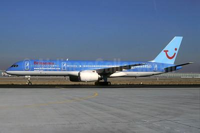 Britannia Airways Boeing 757-204 G-BYAT (msn 27208) (TUI colors) MUC (Christian Volpati Collection). Image: 935167.