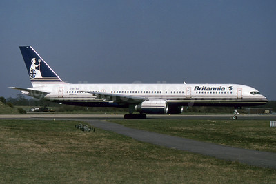 Britannia Airways Boeing 757-204 G-BYAD (msn 26963) LGW (SPA). Image: 932486.