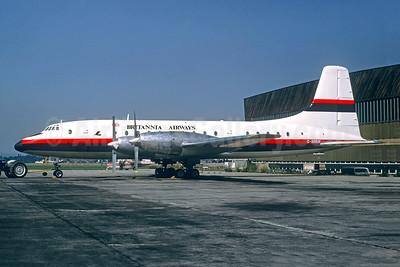 Britannia Airways Bristol 175 Britannia 102 G-ANBN (msn 12915) (Laker Airways colors) LGW (Christian Volpati). Image: 948561.