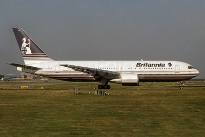 Britannia Airways Boeing 767-204 ER G-BYAA (msn 25058) LGW (SPA). Image: 932488.