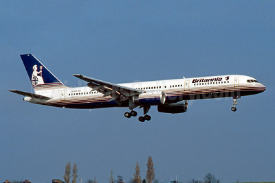 Britannia Airways Boeing 757-204 G-BYAD (msn 26963) BHX (SM Fitzwilliams Collection). Image: 910433.