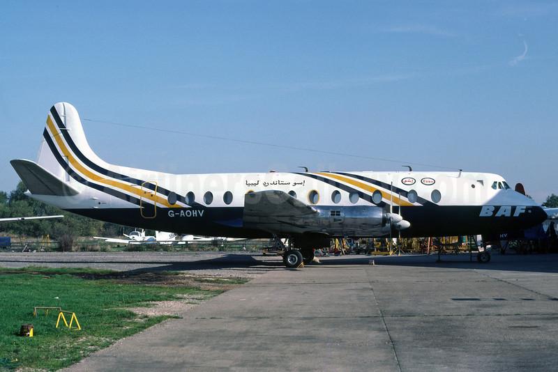 BAF (British Air Ferries)-Oasis Oil Vickers Viscount 802 G-AOHV (msn 170) SEN (Richard Vandervord). Image: 919926.