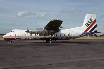 British Air Ferries-BAF Handley Page Herald 206 G-BCWE (msn 166) SEN (Richard Vandervord). Image: 919927.
