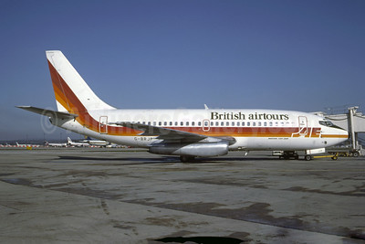 British Airtours 737-2S3 G-BRJP (msn 22660) (Air Europe colors) LGW (Vernon Murphy - Bruce Drum Collection). Image: 948753.