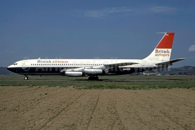British Airtours Boeing 707-436 G-APFO (msn 17716) LDE (Jean Magendie - Bruce Drum Collection). Image: 947040.